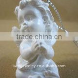 Beautiful resin baby figurine, home decoration, white resin angle