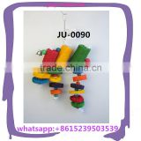 handcraft food grade dye loofah sponge big parrot bird toy supplier for big and medium parrot