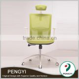 Wholesale plastic Ergonomic mesh office chair With plastic armrest High back office chair PY9012