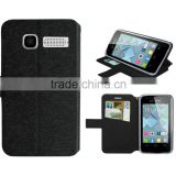 for ALCATEL One Touch Pop C1 case black slik slim wallet stand leather case wiko case high quality factory price