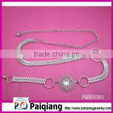 fashion ladies big diamond chain metal belts