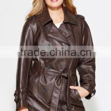 2014 Autumn new sheep skin suit leather jacket genuine leather coat ladies long leather coats