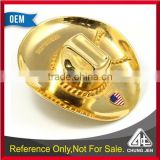 Good Quality gold full 3d cow boy hat for business gift