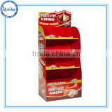 Durable supermarket cardboard display rack/chocolate floor stand shelf display/food display units