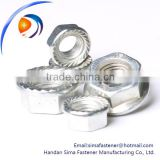 DIN flange nut,Carbon steel flange nut,steel flange nut