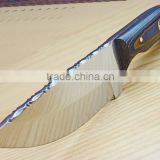A 440-C BLADE PRECIOUS QUALITY/BRILLIANT BLUE MIXTURE MICARTA HANDLE, HANDMADE FIGHTING/HUNTING/KITCHEN KNIFE.