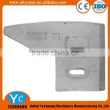 Original scraper blade SICOMA mixer spare parts MAO type 4500/3000 wear parts left scraper blade