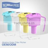 Hot Selling Antioxidant Water Filter Pitcher Hydrogen-rich water anti-aging human body ( pH: 8.5-10.2 , ORP -100MV )