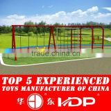 Outdoor playground metal swing for children