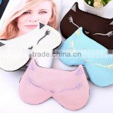 Fashion Design Eye Shade Fox Shape Remove Dark Circles Steam Warm Sleeping Eye Mask with gel ice pack