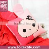 supply made of 100% comfortable micro plush cute animal shape pillow open as a quilt(LCTP0123)