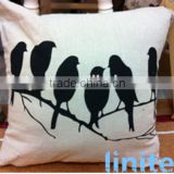 cotton linen jute or blended back cushions throws car cushion bolster cushion covers with printed LOGO