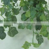 artificial hanging mini grape leaves frosted YL601