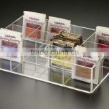 Acrylic Tea Bag Drawer Tray with 12 Compartments/ collection box C1019408