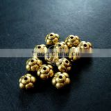 6mm vintage antiqued gold flower alloy beads spacer,stopper DIY beading supplies 3996011