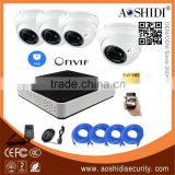 Aoshidi HD 4 Channel 2 Megapixel Vandalproof Dome POE Onvif IP CCTV Cam Kits,4CH 1080P Network 3G Home Security Camera System