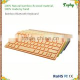 Trade assurance Popular Wireless Bamboo bluetooth keyboard for IPad iphone and Android/tablet