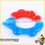 BPA FREE Baby water teether toy oral trainer/Making newborn baby teething water teether teething rings manufacturer