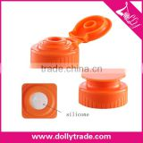 28/400mm High Quality Eco Friendly Plastic Flip Top Cap with Silicone Valve for Cosmetic Dispensing Bottle