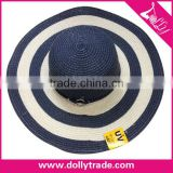 Best Selling Lady Lemmy Cowboy Hat Summer Beach Wide Brim Straw Hat Wholesale