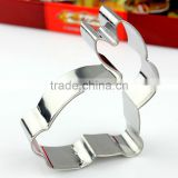 Novelty rabbit shape stainless steel cookie cutter custom mold design cookie press mold