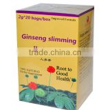 Ginseng Oolong Slimming tea 2g*20bags/box /Lifeworth wholesale best detox natural slim green ginseng tea with no side effect