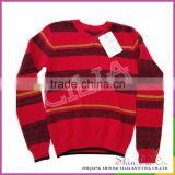 Factory free sample fancy boys winter and autumn knitting stripe sweater