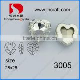 Factory price popular heart shape crystal glass bead with claw
