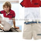 new arrival boys red polo clothing suits baby boys polo t shirts+polo shorts 2pcs outfits