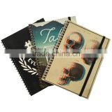 Card paper cover agdena planner wire-o binding notebook with elastic band writing notebook