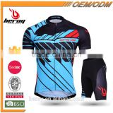 BEROY new design quick dry short sleeve bicycle apparel,wholesaler cycling sets short sleeve for men