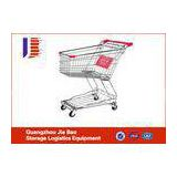Large Capacity Metal Steel Supermarket Shopping Carts With Wheels