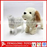 Repeating talking and walking stuffed dog animals toy