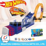2017 Hot sell funny kids plastic race track car railway car