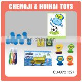 Plastic mini seal kit colorful toy stamp