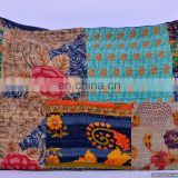 Ethnic Large Size Indian Pillow Case Vintage Saree Handmade Kantha Work Pillow Cover Decor