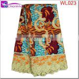 wax lace african fabric WL023
