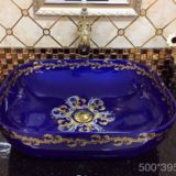 Competitve price bathroom square mid eastern style ceramic table wash basins sink