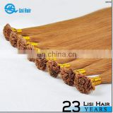 Double Weft Hot Selling Remy Italian Keratin 6a Laotian Hair