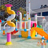 Colorful Kids Water Play Attractions Fiberglass Water Play for Hotel and Resort