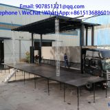 9.6 m LED mobile advertising vehicleled stage car