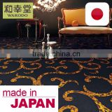 Heavy Traffic Resistant Fire-Retardant Casino Carpet Tile with multiple functions made in Japan