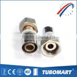 International standard ISO 17484 press union female brass gas fitting for heating system