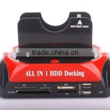876c 2 USB ports card reader Hdd docking in HDD enclosure