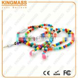 Fashion Girl Accessories Color Beads Necklace headphone