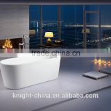 Charm Free Standing Bathtub,white resin stone bathtub, CE and CUPC Acrylic Bathtub Factory