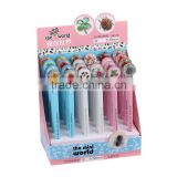 Pictures of Stationery Items of Gel Ink Pen with Folwer Resin Button