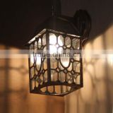 MW40017 Unique antique brass metal material wall light with lampshade                                                                         Quality Choice