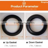 New Style Basin Waste Accessories Gasket Silicone Steel Ring Black Rubber Water Seal (S5)