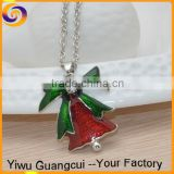 Zinc alloy enamel Christmas bell decoration necklace designs
